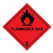 Hazard safety sign - Flammable Gas (2) 033